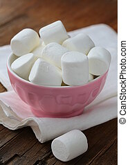 White  marshmallows