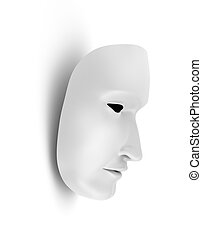 White mask, theater concept