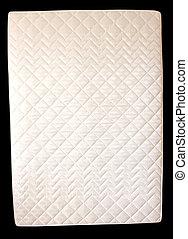 white mattress on a black background