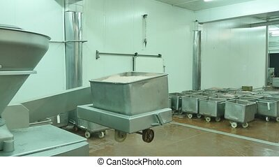 meat industry equipment - White meat industry equipment move