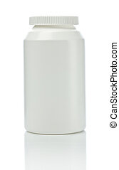 white medical bottle