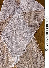 White medical gauze bandage