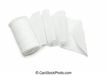 White medical gauze bandage - White medical cotton gauze...