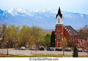 White Memorial Chapel during day, Salt Lake City