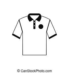 White men polo shirt icon