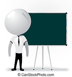 white men with blackboard