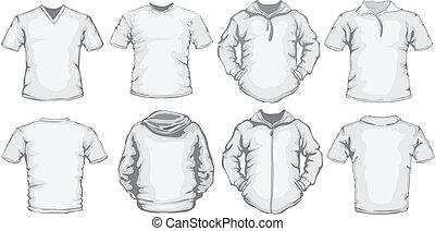 white men's shirts template