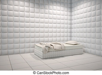 mental hospital padded room - white mental hospital padded...