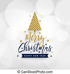 white merry christmas background with tree design