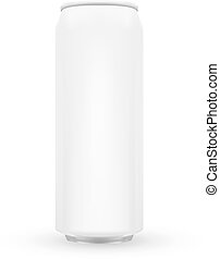 White Metal Aluminum Beverage Drink Can 500ml