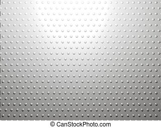 White abstract metall background with dots texture