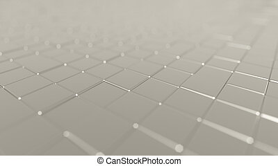White metal plates background, 3D rendering