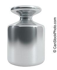 white., metall, isolerat, vikt, kalibrering