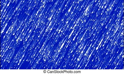 white meteor shower in blue space