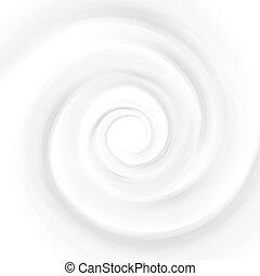 White Milk, Yogurt, Cosmetics Product Swirl Cream Illustration. Mousse Whirlpool And Vortex. Swirl Cream Texture Background