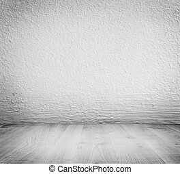 White minimalist plaster, concrete wall background and white...