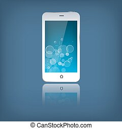 White mobile phone isolated