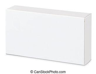 white mock-up isolated