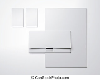 White Mock Up With Blank Business Cards