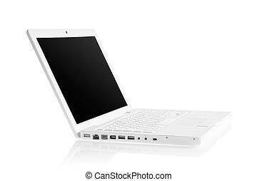 White modern laptop
