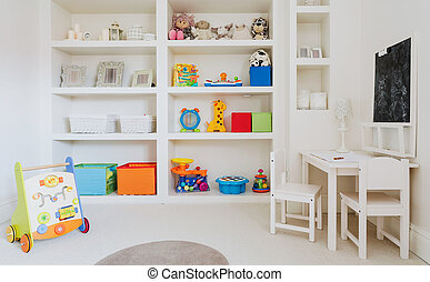 White modern nursery room