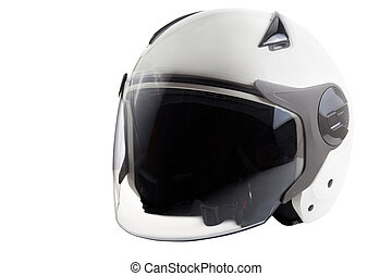 White modern scooter helmet