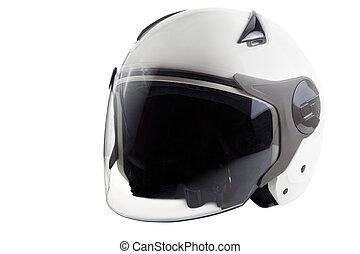 White modern scooter helmet