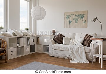 White modern sitting room - Picture of white modern sitting...