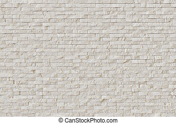 White Modern stone Brick Wall