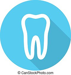White molar tooth poster template. Graphic design element...
