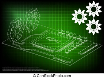 white motherboard on green