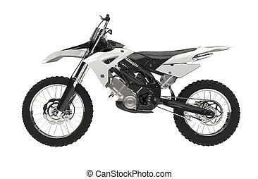 White motocross bike