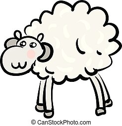 White mountain ram animal vector or color illustration