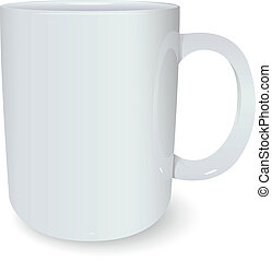 White mug - Vector image of white ceramic 3d mug