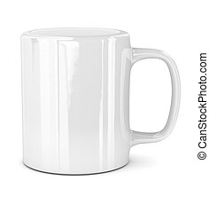 White mug  - Mug - isolated on white background