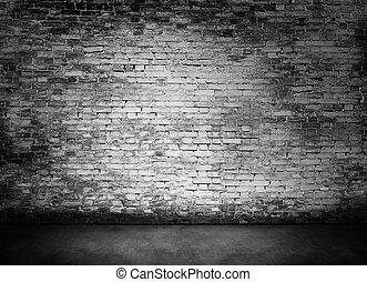 white murky brick wall