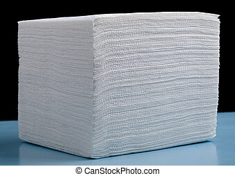 white napkin of close up