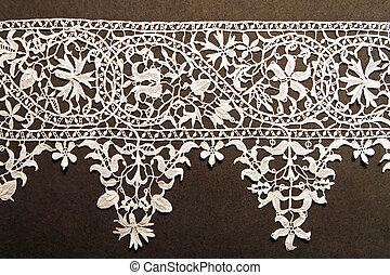 White needlework - Unique hand made precision needlework...