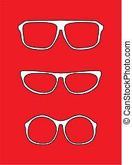 White nerd vector glasses