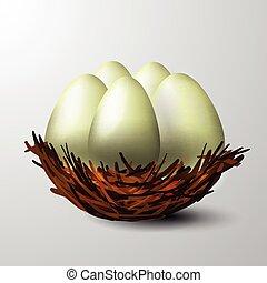 white nest isolated