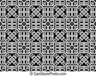 White net on black background. seamless pattern