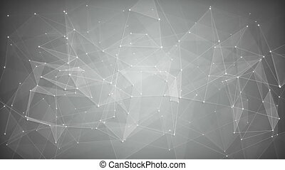 White network shape. Abstract loopable background