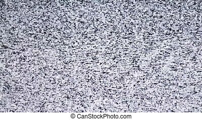 White noise, noise on TV - TV channel noise, noise, snows on...