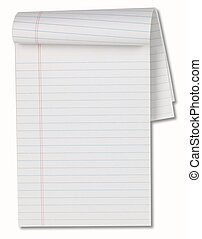White Note Pad with Path