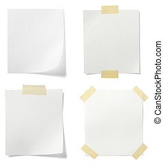 white note paper message label business - collection of...