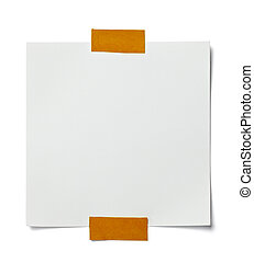 white note paper message label business