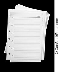White note paper