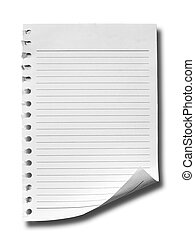 White note paper
