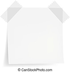 White Note Papers, Isolated On White Background, Vector ...