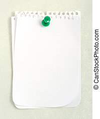 White Notebook Paper (with clipping path)